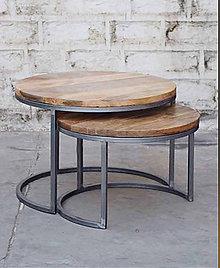 Nábytok - Konferenčný stolík industrial - 10998756_