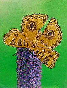 Obrazy - Žltý motýlik - 10999404_