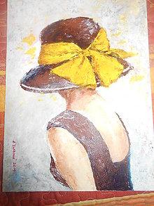 Obrazy - Dáma v klobúku - 11000569_