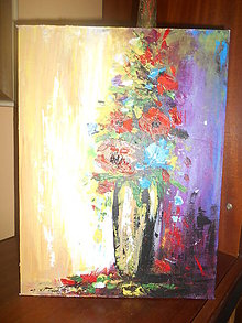 Obrazy - Kvety vo váze - 11000621_