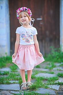 Detské oblečenie - Detská suknička ružová - 10998164_