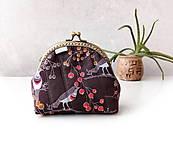 Peňaženky - Peňaženka XL Vtáčiky a bobuľky - 10998351_