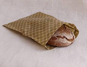 Úžitkový textil - FILKI voskáň - voskované vrecko (béžovo-biele veľké vrecko) - 10998139_