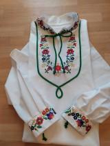 Oblečenie - Ručne maľovaná pánska košeľa - 10998144_