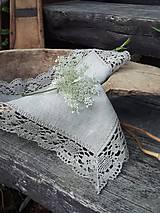Úžitkový textil - Ľanový obrúsok Gift of Nature - 11000475_