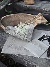 Úžitkový textil - Ľanový obrúsok Gift of Nature - 11000476_