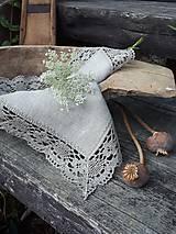 Úžitkový textil - Ľanový obrúsok Gift of Nature - 11000480_