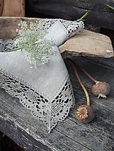 Úžitkový textil - Ľanový obrúsok Gift of Nature - 11000481_