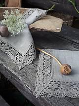 Úžitkový textil - Ľanový obrúsok Gift of Nature - 11000484_