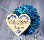 Darčeky pre svadobčanov - Svadobná magnetka - 11002192_