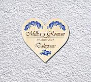 Darčeky pre svadobčanov - Svadobná magnetka - 11002193_
