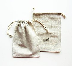 Obalový materiál - Textilné vrecko, bavlnené, prírodné, (17,5x12,5 cm) - 11002222_