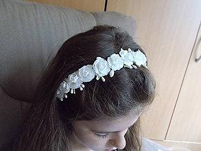 Ozdoby do vlasov - Kvetinová čelenka... - 11001408_
