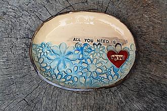 Nádoby - miska - all you need is love - 11002292_