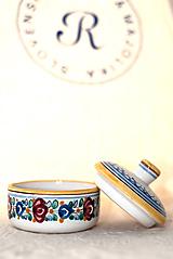 Nádoby - Nádobka na cukor s tradičným farebným dekórom - 11001246_