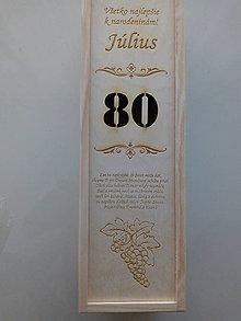 Krabičky - Gravirovana krabica na víno - 11001908_