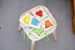 Hračky - Geometrické tvary a farby - na jemnú motoriku - 11001722_