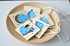 Hračky - Geometrické tvary a farby - na jemnú motoriku - 11001723_