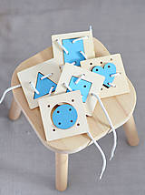 Hračky - Geometrické tvary a farby - na jemnú motoriku - 11001724_