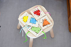 Hračky - Geometrické tvary a farby - na jemnú motoriku - 11001725_