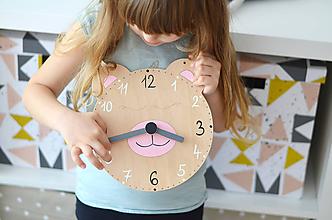 Hračky - Edukačné dizajnové hodiny – Na učenie sa času (Modrá) - 11001677_