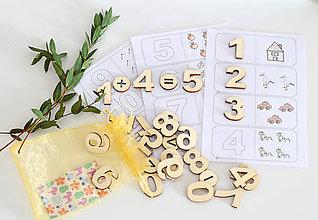 Hračky - Čísla a množstvá - dva varianty (Základná nefarebná varianta + karty) - 11001689_