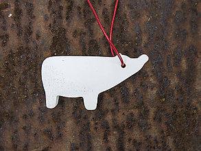 Náhrdelníky - Betónový medveď - 11001851_
