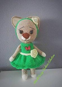 Hračky - Háčkovaná mačka Zuzka - 11002906_