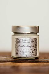 Sviečka zo 100% sójového vosku v skle - Kamilka a Rakytník