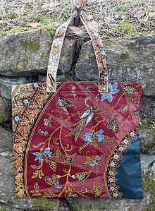 Veľké tašky - Veľká taška bordová - 11002810_