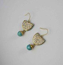 Náušnice - Tana šperky - keramika/zlato - 11001027_