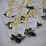 Luxusná svadba III. - darčeky pre hostí, menovky
