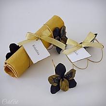 Úžitkový textil - Luxusná svadba III. - krúžky na servítky, menovky, darčeky pre hostí - 11002262_