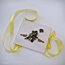 Papiernictvo - Luxusná svadba III. - kniha hostí s orchideami - 11002279_