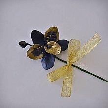 Pierka - Luxusná svadba III. - kvet do pierka pre ženícha - 11002348_