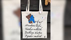 Iné tašky - ♥ Plátená, ručne maľovaná taška ♥ - 11002883_
