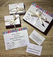 Papiernictvo - Svadobné oznámenia vo veselom folklórnom ľudovom štýle - 11002108_