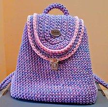 Batohy - Háčkovaný ruksak - 11002879_