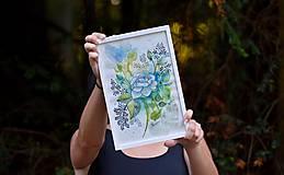 Kresby - Divá ruža - akvarel - 11001611_