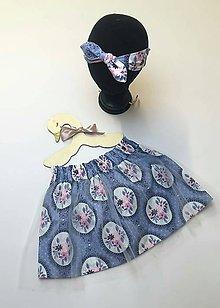Detské oblečenie - Detská suknička s tylom+čelenka - 11002385_
