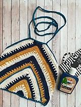 Topy - Háčkovaný crop top MULBERRY (100% bavlna) - veľkosť S - 11001730_
