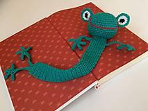 Papiernictvo - Záložka do knihy -žaba - 11001032_