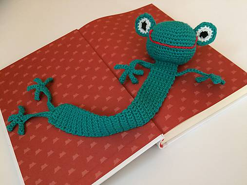 Záložka do knihy -žaba