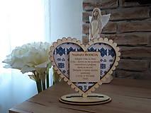 Darčeky pre svadobčanov - Podakovanie pre rodicov Cicmany I (drevo+textil) - 11002415_