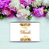 Papier - Menovka na stôl Gold - 11003473_