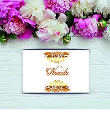 Darčeky pre svadobčanov - Svadobná čokomenovka Gold - 11003480_