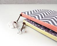 Peňaženky - Peňaženka Cik-cak alebo Bodky (s koženkou) - 11000872_