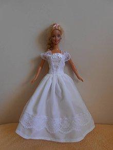 Hračky - Svadobné šaty pre barbie - 11003210_