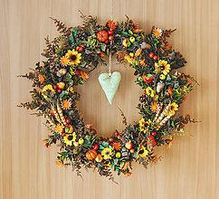 Dekorácie - Jesenný veniec - 11002170_