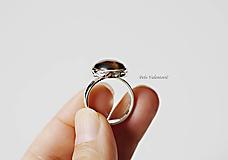 Prstene - Tiger strieborný prsteň - 11003645_